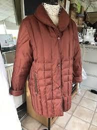 <b>Baronia</b> Puffa <b>Coat</b> 3/4 Length Brick Red Size 16 | eBay
