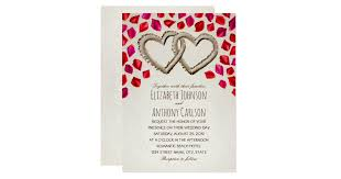 Unique Sand <b>Hearts Rose</b> Petal Beach Themed <b>Wedding Invitation</b> ...