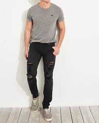 Hollister Size Chart Guys Hollister Advanced Stretch Skinny Mens Jeans Usa Outlet