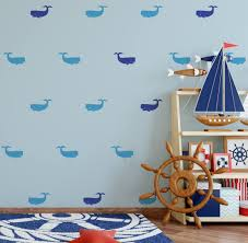 whale wall decal kids room wall decal nursery wall decor fish wall stickers 72 whales decal abpt18