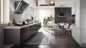 italian kitchen furniture. Round White Table Ceramic Floortile Black Hanging Lamp Italian Kitchen Cabinets Simple Furniture Square Grey Stained Wooden Dresser N