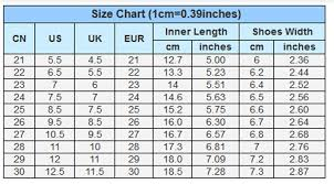 Keds Kids Size Chart Kids