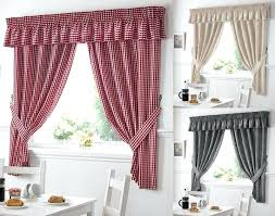 red and white kitchen curtains gingham check red white kitchen curtains ds x tiebacks included red