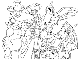 Small Picture Pokemon anime coloring pages for kids printable free coloring