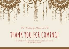 Wedding Thank You Notes Templates Customize 366 Wedding Thank You Cards Templates Online Canva
