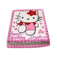 Hello Kitty Design Square Cake Giftallbdcom