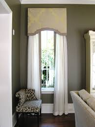 Window Curtain Box Design Love The Cornice Box With The Matching Edging On The White Sheer