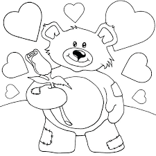 Teddy Bear With Heart Coloring Pages Teddy Bear Heart Coloring Pages