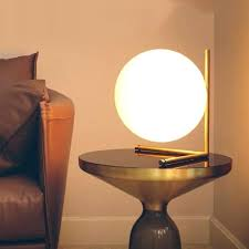 bedside table lamps minimalist art decor ball table lamp geometry abstract design through cared bedroom bedside bedside table lamps