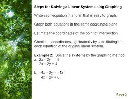 free powerpoint templates page 3 steps for solving a linear system using graphing write each equation