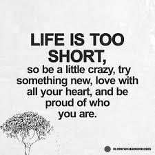 Nice Quotes About Life Inspiration Nice And Funny Quotes Life Is Too Short So Be A Little Crazy Try