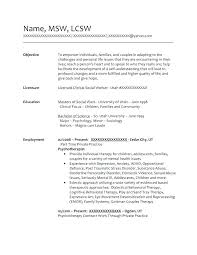 Social Work Resumes And Cover Letters Social Worker Resume Sample