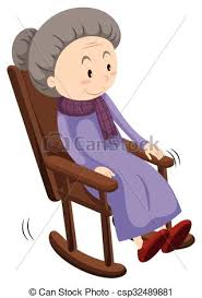 rocking chair drawing. Old Lady On Rocking Chair - Csp32489881 Drawing S