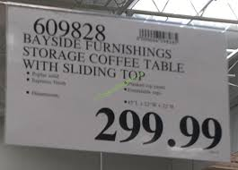 costco 609828 bayside furnishings storage coffee table with sliding top
