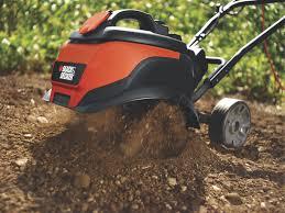 best garden tiller. black \u0026 decker electric garden tiller at work best e