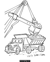 Dump Truck Coloring Pages Trucks Snow Plow On