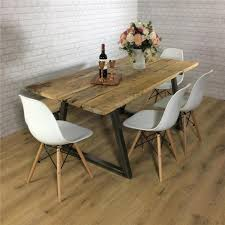 john lewis calia style dining table vine industrial reclaimed wood plank top in home furniture diy furniture table chair sets ebay