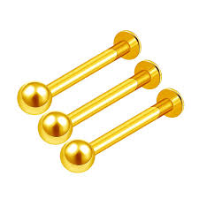 Amazoncom 3pcs Anodized 14g 38 10mm Labret Rings Piercing Jewelry