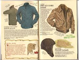 banana republic catalog 30 holiday 1986 lodge shirt army air corps jacket lambskin