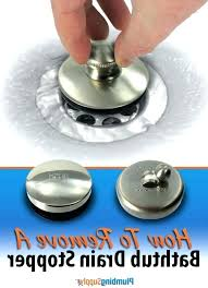 lift and turn stopper remove bathtub drain plug lever repair leaking