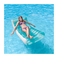 intex inflatable lounge chair. Intex 58856 Inflatable Floating Lounge Chair For The Pool Or Beach ROCKIN LOUNGE