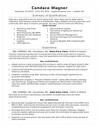 Data Entry Resume Skills Examples