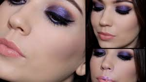 purple party makeup tutorial giveaway you