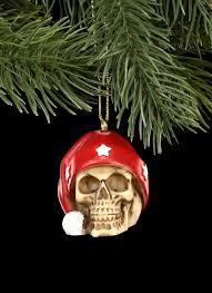 Christbaum Schmuck Totenkopf Mit Weihnachtsmütze