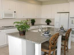 White Kitchen With Granite Neutral Granite Countertops Hgtv