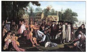 Английские колонии в Северной Америке Новая история Реферат  Встреча Уильяма Пенна с вождями индейцев делаваров