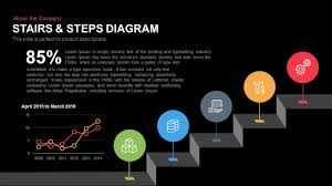Stairs Steps Diagram For Powerpoint Keynote Template