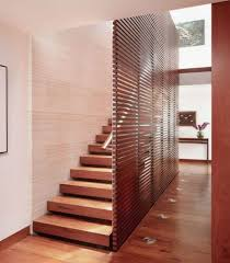Contemporary Wooden Staircase Design Ideas with Chrome Handle