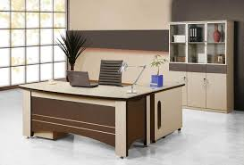 wooden office table. Office Table Design Rectangle Shape Brown Wooden White Green Colors Wheeled Chairs Grey Color P