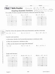 graphing quadratic functions worksheet inspirational graphing quadratics in standard form worksheet choice image form