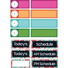 Classroom Scheduling Pocket Chart Refill Kit