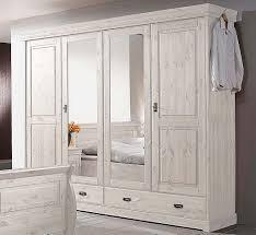 Schlafzimmer Set 4teilig Kiefer Massiv Weiß Lasiert