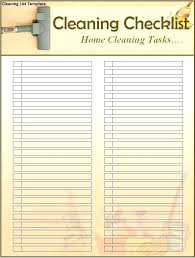 New House Cleaning Checklist Template Sample Professional List Home