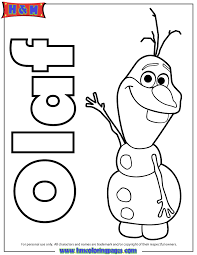 Small Picture Olaf The Snowman From Frozen Movie Coloring Page H M Coloring