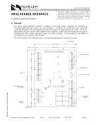 keri systems mr52 user manual 7 pages