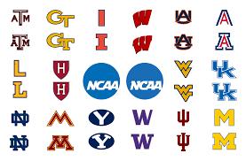 Sans Serif NCAA Logo Series (Ongoing) on Behance