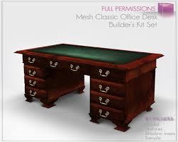 classic office desk. Full Perm Mesh - Classic Boss Office Desk Furniture Builder\u0027s Kit Set S