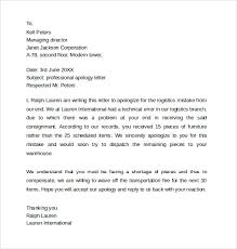 Customer Apology Letter Examples Useful Examples Of Apology Letters To Customers Vatansun 71