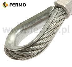 Kausza łezka ocynkowana końcówka linki fi 4 mm - FERMO