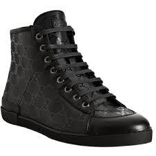 gucci shoes black and white. gucci black gg imprimee \u0027barcelona\u0027 hi-top sneakers shoes and white u