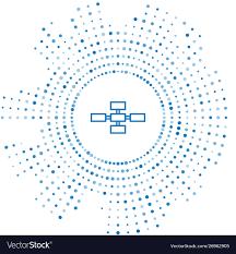 Blue Line Business Hierarchy Organogram Chart