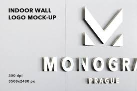 Free Logo Mockup Indoor Wall Logo Mockup Badge 3d By Printpixel On