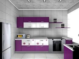 Purple Color Lacquer Board Kitchen Cabinet