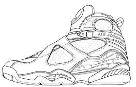 shoe drawing at free for personal use shoe shoe drawing 6 jordan shoes coloring pages