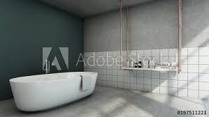 loft green wall tiles concrete wall