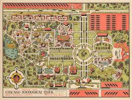brookfield zoo map.  Zoo 1948 Official Map Chicago Zoological Park Intended Brookfield Zoo O